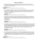 Hypothesis Worksheet
