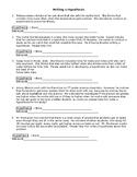 Hypothesis Worksheet