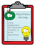 Hypothesis Writing Worksheet