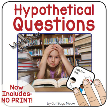 Hypothetical Questions (Basic) Interactive Book - Speech Therapy + NO PRINT