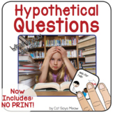 Simple Hypothetical Questions Interactive Book + NO PRINT