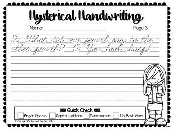 Hysterical Handwriting 2.0 - Jokes & Giggles Cursive Edition