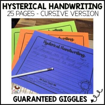 Hysterical Handwriting Guaranteed Giggles Cursive Edition