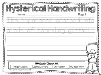 Hysterical Handwriting- Guaranteed Giggles (Notebook Lines)