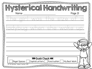 Hysterical Handwriting Guaranteed Giggles Notebook Lines