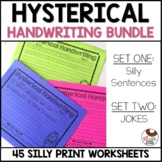 Hysterical Handwriting Worksheets   Print Bundle