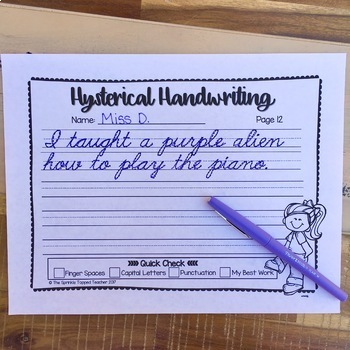Hysterical Handwriting Ultimate Bundle Includes Cursive and Print