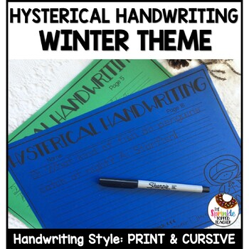 Hysterical Handwriting Winter Bundle - Cursive and Print