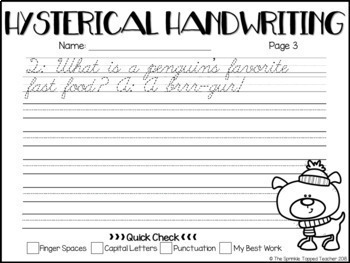 Hysterical Handwriting Winter Bundle - Cursive and Print