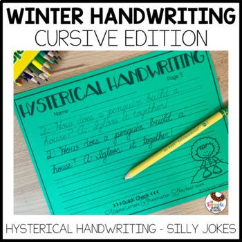 Hysterical Handwriting Winter Edition - Cursive