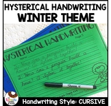 Hysterical Cursive Handwriting Worksheets | Winter Theme