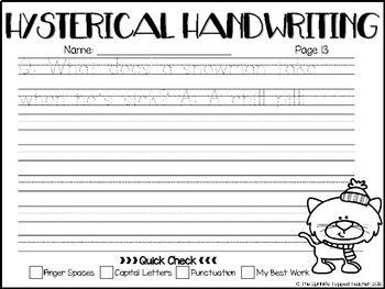 Hysterical Handwriting Winter Edition - Print