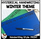 Hysterical Handwriting Print Practice | Winter Theme