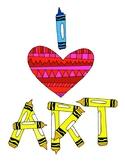 I love Art DESIGN Coloring Page