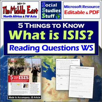 5 Things to Know About ISIS Worksheet for great Jr. Scholastic article