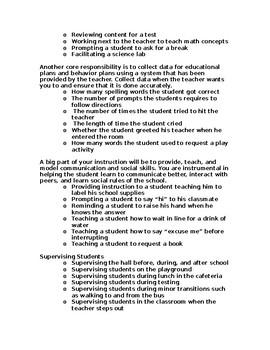 I.A. or Para Professional Handbook - EDITABLE