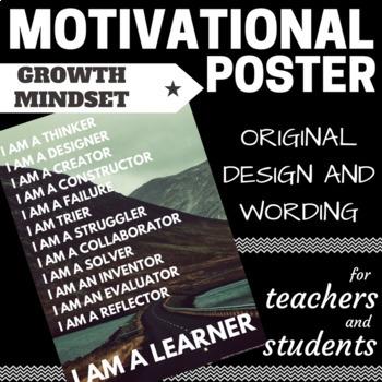 I AM A LEARNER - Growth Mindset Motivational Poster