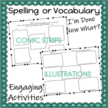 ELA Word Work Activities I AM DONE WHAT CAN I DO