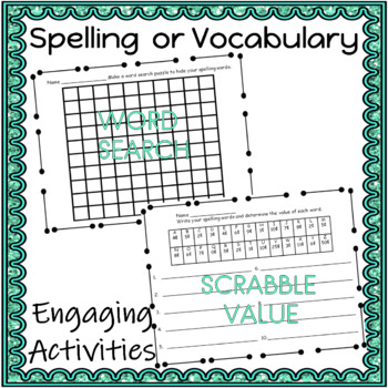 Word Work Activities for ELA  I AM DONE WHAT CAN I DO