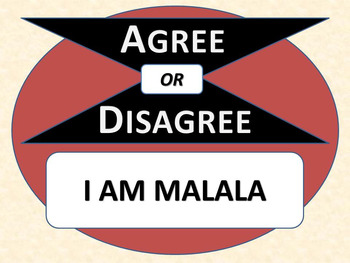 I AM MALALA - Agree or Disagree Pre-reading Activity