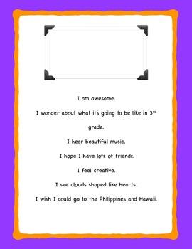 I AM POEMS for creative writing/descriptive writing/5 Senses poems