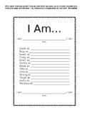 I AM - Poem Writing Using Similes