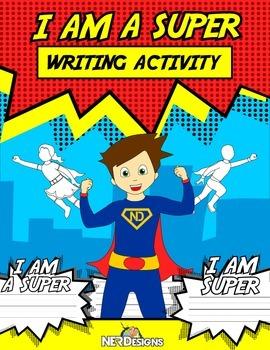I AM SUPER writing activity