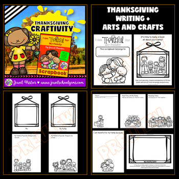 Thanksgiving Craftivities BUNDLE (I Am Thankful For Writing Scrapbooks)