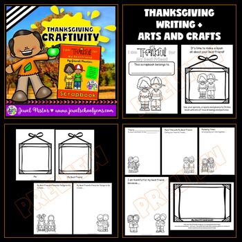 Thanksgiving Craftivities BUNDLE (I Am Thankful For Writing Scrapbooks)
