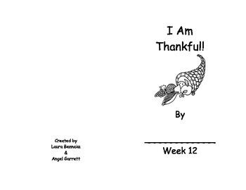 I AM THANKFUL WORD BOOK- WEEK 12
