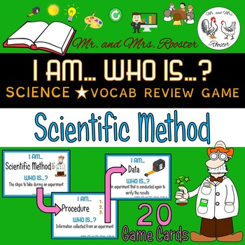 I AM... WHO IS...? Scientific Method Vocabulary Card Game
