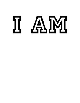 """I AM"" poster"