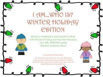 I AM...WHO IS? Winter Holiday Edition