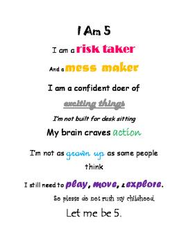 I Am 5 Poster