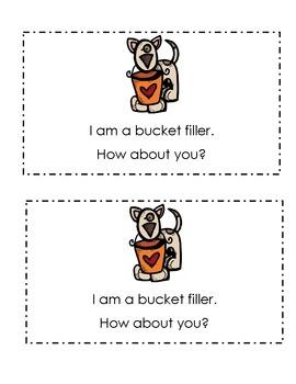I Am A Bucket Filler! Emergent Reader