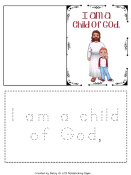 I Am A Child of God Tracing, Mini-books, and Copywork