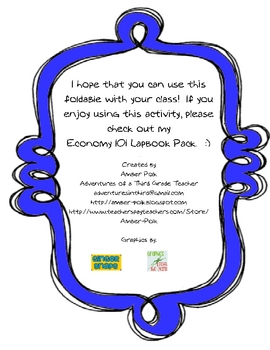 I Am A Consumer Fold-Up (Freebie Excerpt from Economy 101 Lapbook)
