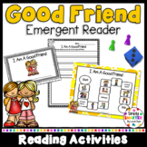 I Am A Good Friend Social Story Emergent Reader Book AND Interactive Activities