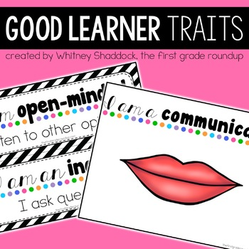 Good Learner Traits Posters and Activities