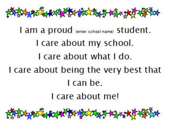 I Am A Proud Student FREEBIE