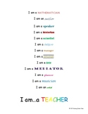 I Am A Teacher Poster