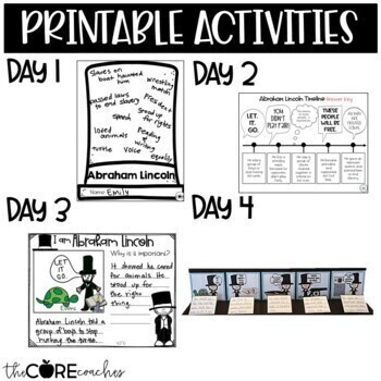 I Am Abraham Lincoln Read-Aloud Activity