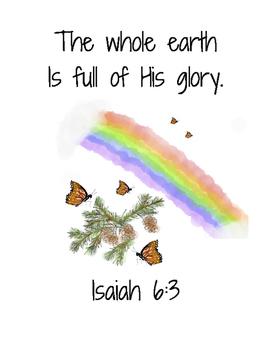 I Am An Artist Bible Verse Printable