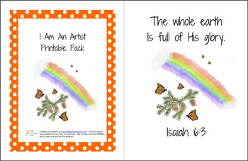 I Am An Artist Printable Pack