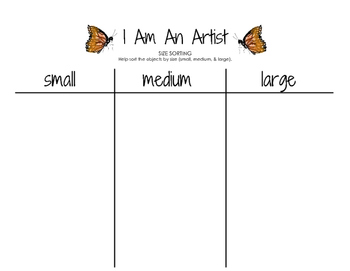 I Am An Artist - Sorting by Size