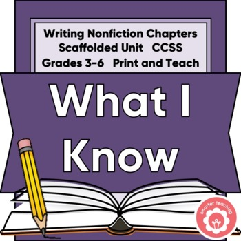 What I Already Know: Informational Writing SCAFFOLDED