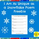I Am As Unique As a Snowflake Simile Poem
