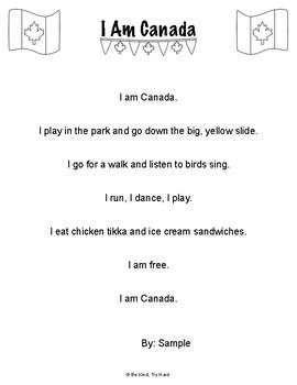I Am Canada Poem