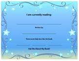 I Am Currently Reading Sign: (Lead by example! Tell'em what you're reading!)