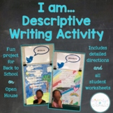 I Am Descriptive Writing Activity Back to School Open House Project {Editable}
